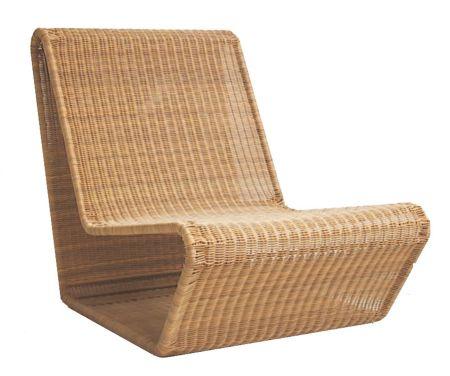 fauteuil tressé design