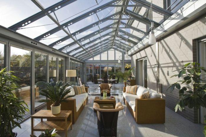 jardin hiver moderne