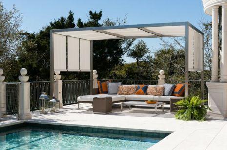 pergola moderne piscine