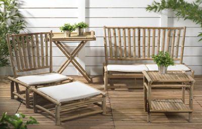 Le mobilier de jardin en bambou